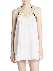 L Space White Falls Chemise Coverup