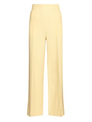The Row Melip Wide Leg Stretch Wool Trousers