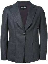 Giorgio Armani Patch Pockets Blazer Grey