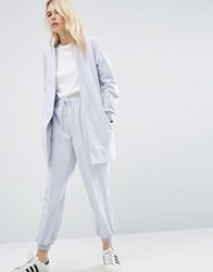 Asos Formal Jogger With Cuff Detail Co Ord Grey Blue Silver