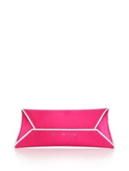Vbh Manila Stretch Sparkle Trim Satin Envelope Clutch Bright Pink Black Medium Blue