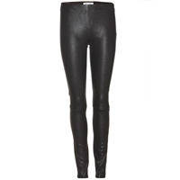 Saint Laurent Stretch Leather Leggings Noir
