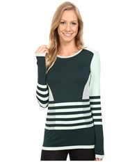 The North Face Long Sleeve Secondskin Top Subtle Green Scarab Green Women's Long Sleeve Pullover