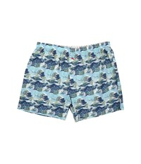 Tommy Bahama Big Tall Island Washed Cotton Woven Boxer Palm Island Blue Print Men's Underwear