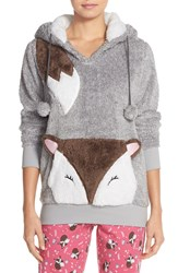 Cozy Zoe Hooded Sweatshirt Heather Grey Fox