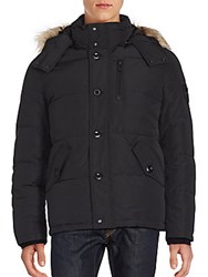 Calvin Klein Faux Fur Trimmed Winter Parka Black