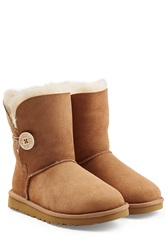 Ugg Australia Bailey Button Suede Boots Brown