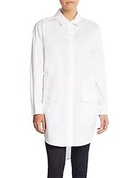Dkny Poplin Pocket Tunic White