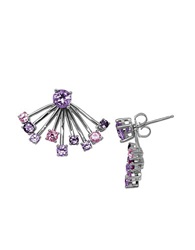 Lord And Taylor Amethyst And Sterling Silver Earring Jacket And Stud Earrings Set Purple
