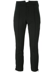 Y 3 Side Zip Cropped Pants Black