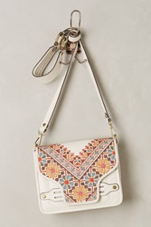 Ella Moss Tilework Crossbody Bag White