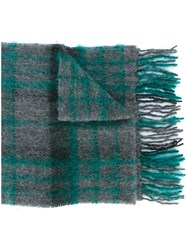 Paul Smith Checked Scarf Grey