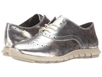 Cole Haan Zerogrand Wing Oxford Marble Ivory Specchio Women's Shoes Gold