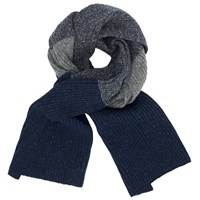 John Lewis And Co. Made In Italy Fisherman Rib Scarf Navy Grey
