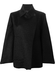 Giorgio Armani Boxy Fit Double Breasted Jacket Black
