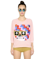 Lin Art Project Embroidered Cotton Sweatshirt