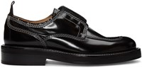 Carven Black Contrast Stitch Derbys
