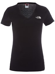The North Face Simple Dome V Neck T Shirt Black