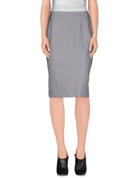 Antonio Fusco Knee Length Skirts Grey