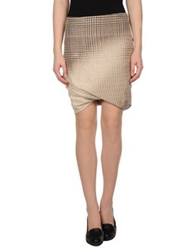 Pauw Knee Length Skirts Beige