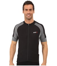 Louis Garneau Lemmon Vent Jersey Black Grey Men's Clothing
