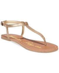 American Rag Krista T Strap Flat Sandals Only At Macy's Women's Shoes Gold