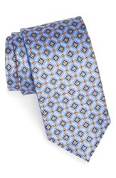 Men's J.Z. Richards Geometric Medallion Silk Tie Blue