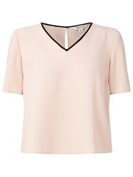 Miss Selfridge Bow Back Tee Pink