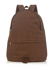 A.P.C. Stefan Cotton Canvas Backpack Brown