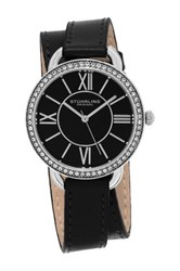 Stuhrling Women's Silver Tone Japan Quartz Watch Black