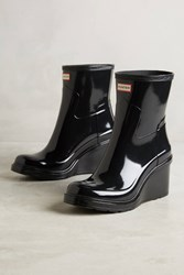 Anthropologie Hunter Wedge Rain Boots Black