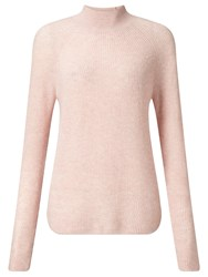 John Lewis Collection Weekend By Funnel Neck Cashmere Jumper Dusty Pink