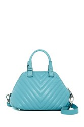 Abro Quilted Leather Satchel Blue