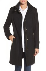 Cole Haan Signature Women's Funnel Neck Wool Blend Coat