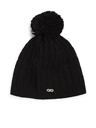 Cole Haan Wool Cable Knit Hat Black