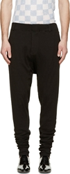 Haider Ackermann Black Ribbed Knit Dropped Lounge Pants