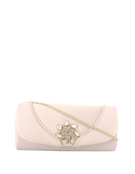 Sasha Satin Clutch Bag Champagne
