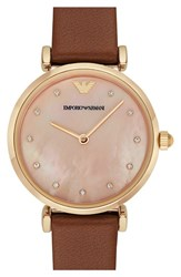 Women's Emporio Armani Leather Strap Watch 32Mm