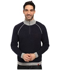 Mountain Khakis Fleck Qtr Zip Sweater Navy Men's Sweater