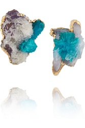 Dara Ettinger Majorie Gold Calcite Earrings Metallic