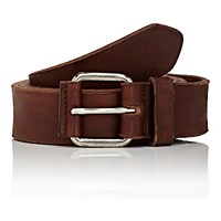 Dries Van Noten Men's Distressed Leather Belt Tan