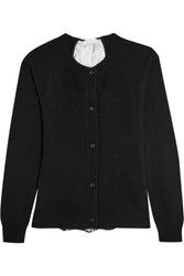 Clu Lace Paneled Wool And Cashmere Blend Cardigan Black