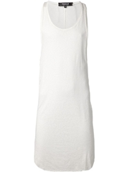 Hraun By Cedric Jacquemyn Long Racer Back Tank Top White