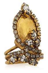 Erickson Beamon Hung Up Gold Plated Swarovski Crystal Ring