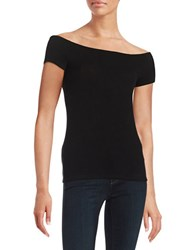 Project Social T Ribbed Boatneck Top Black