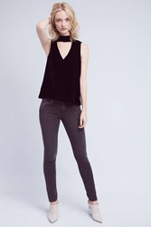 Anthropologie James Jeans Twiggy Low Rise Petite Skinny Jeans Grey