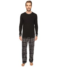 Kenneth Cole Reaction Fleece Pj Set Black Men's Pajama Sets