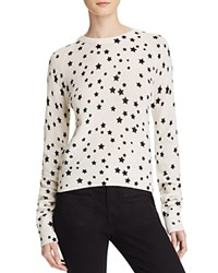 Equipment Kate Moss For Ryder Star Print Cashmere Sweater Ivory Black