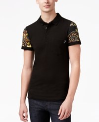 Versace Jeans Men's Printed Sleeve Polo Acacia