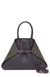 Akris 'Ai Medium Messenger' Tricolor Leather Tote